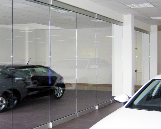 FNM200 Folding Glass Door with Heavy Duty Rail